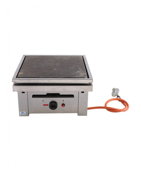 Steengrill gas 40 x 40 cm 30 pers.