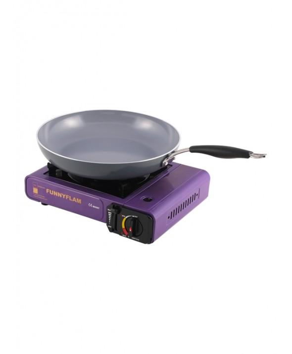 Kookplaat gas met koekenpan