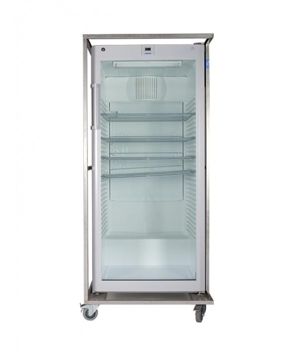 Koelkast glas 600 liter 180(H) x 84(B) x 84(D) cm