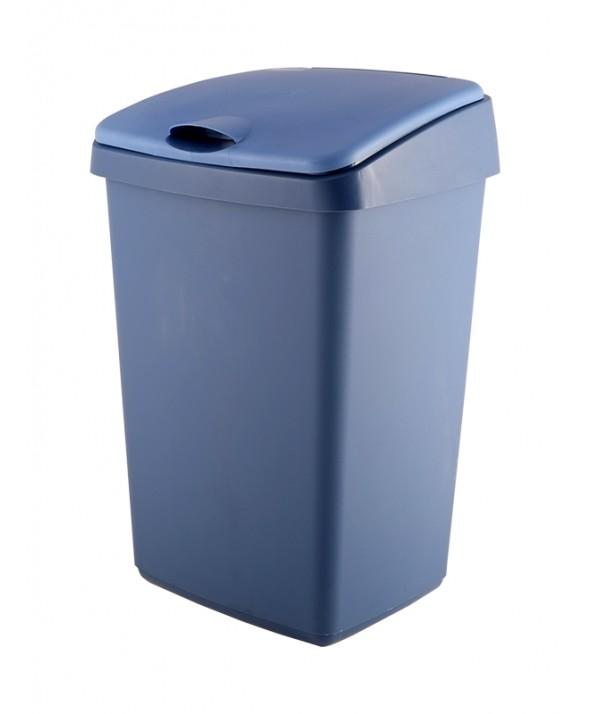 Afvalbak wit met klapdeksel 50 liter