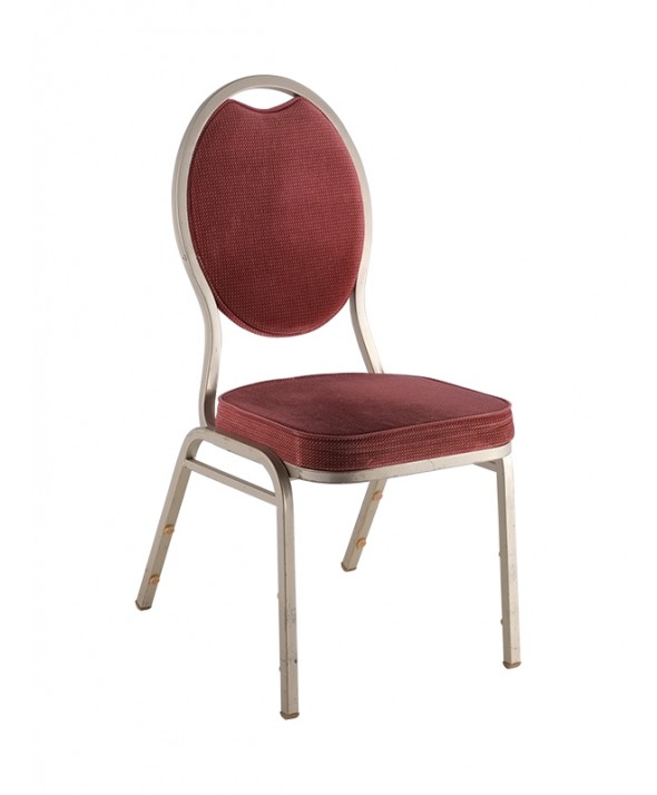 Stack-chairs Champagne/rood