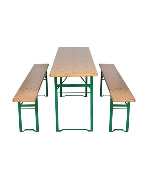 Biertafelset 220(L) x 50(B) x 75(H) cm