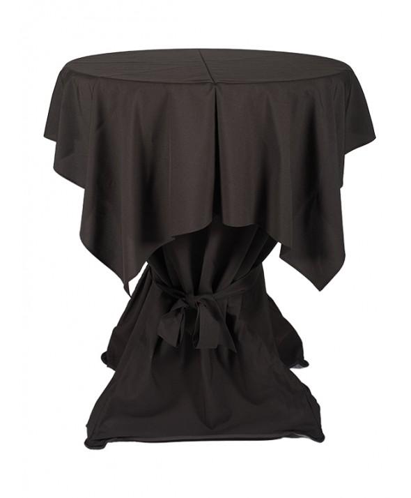 Tafelkleed zwart 140 x 140 cm