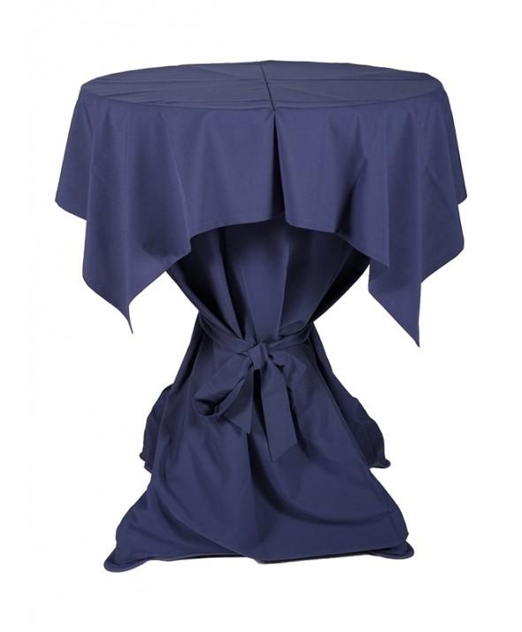 Tafelkleed blauw 140 x 140 cm