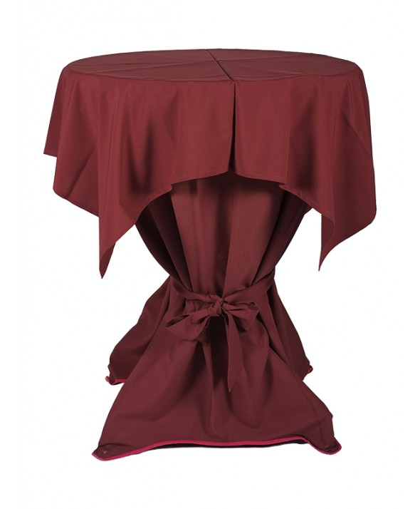 Tafelkleed bordeaux 140 x 140 cm