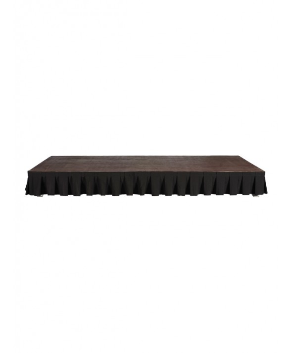 Afroksysteem zwart 410 x 20(H) cm