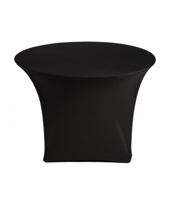 Stretchrok diner zwart rond 120 cm