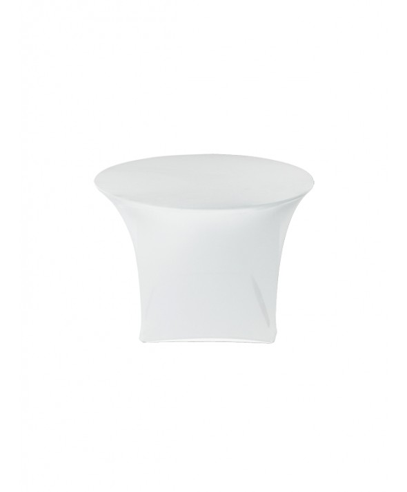 Stretchrok diner wit rond 120 cm
