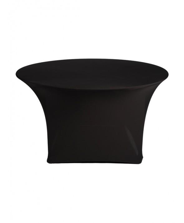 Stretchrok diner zwart rond 150 cm