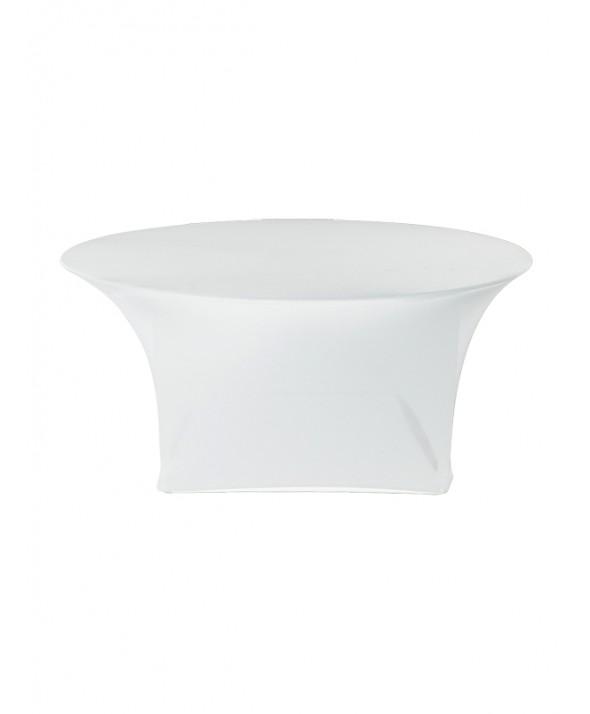 Stretchrok diner wit rond 180 cm