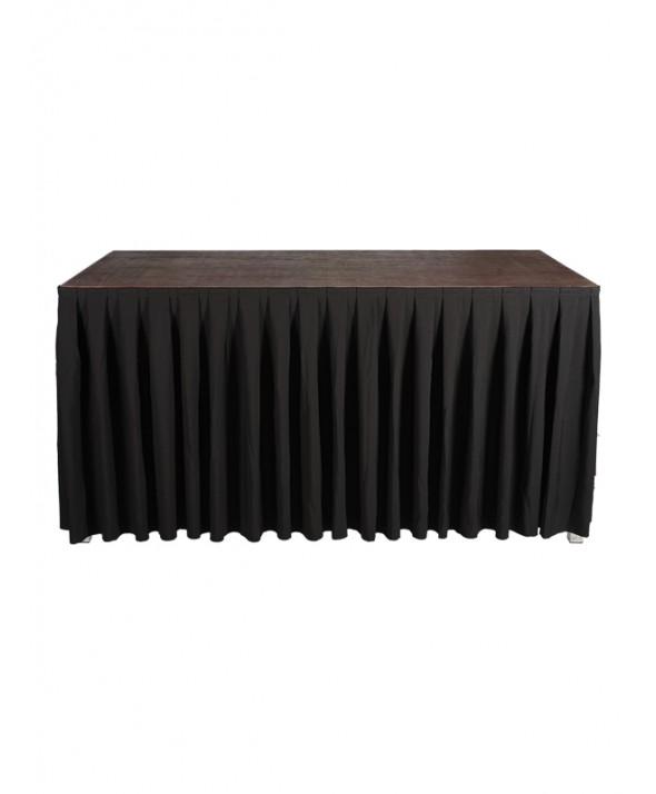 Afroksysteem zwart 410 x 100(H) cm